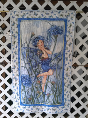 Blue Flower Fairy Quilt