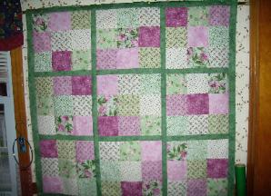 Sudoku Wall or Lap Quilt - 40 x 40, $125.